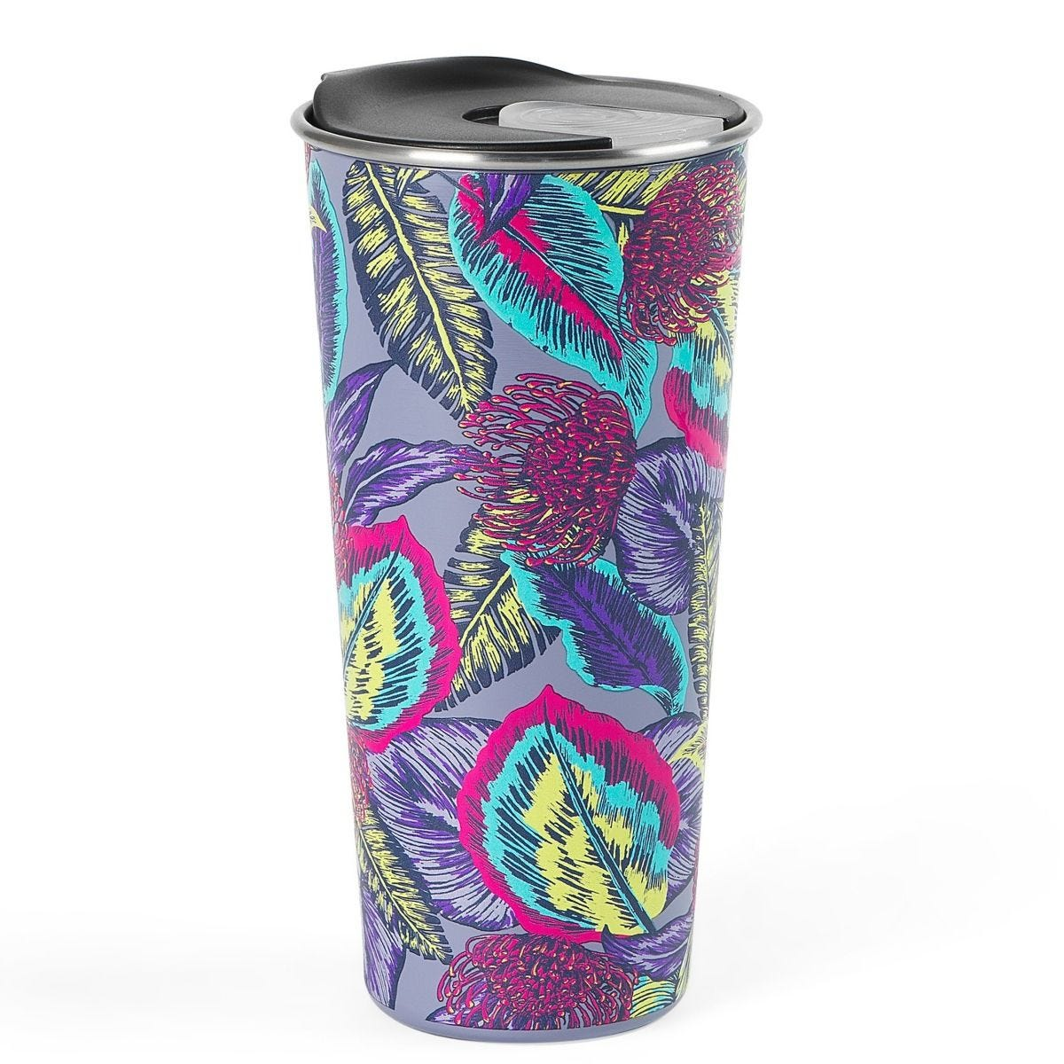 Cambridge Reusable Wild Tropics Sippy Cup With Lid | 500 ml | Shatter-proof