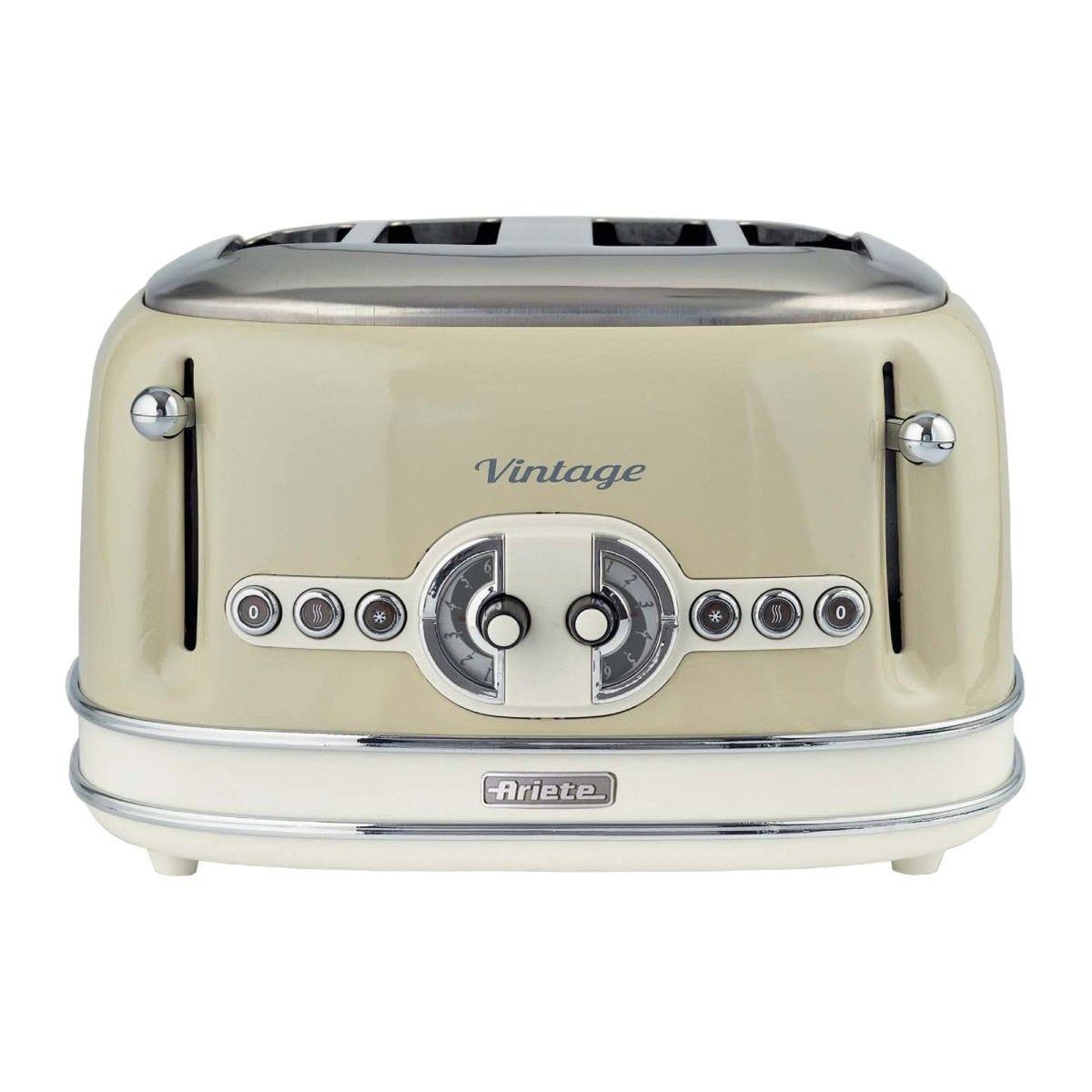 Ariette AR5603 Vintage 4-Slice Toaster - Cream
