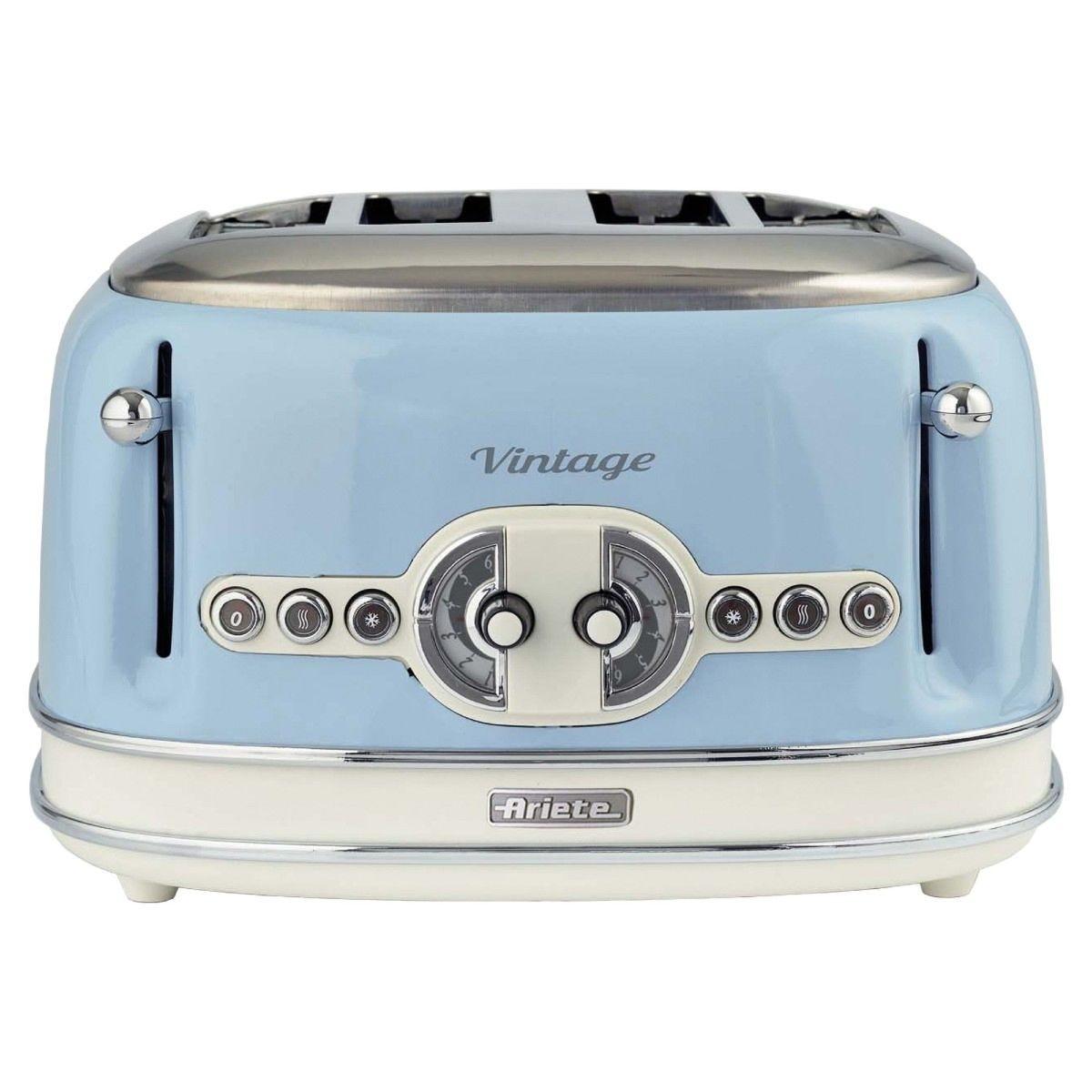 Ariette AR5605 Vintage 4-Slice Toaster - Blue