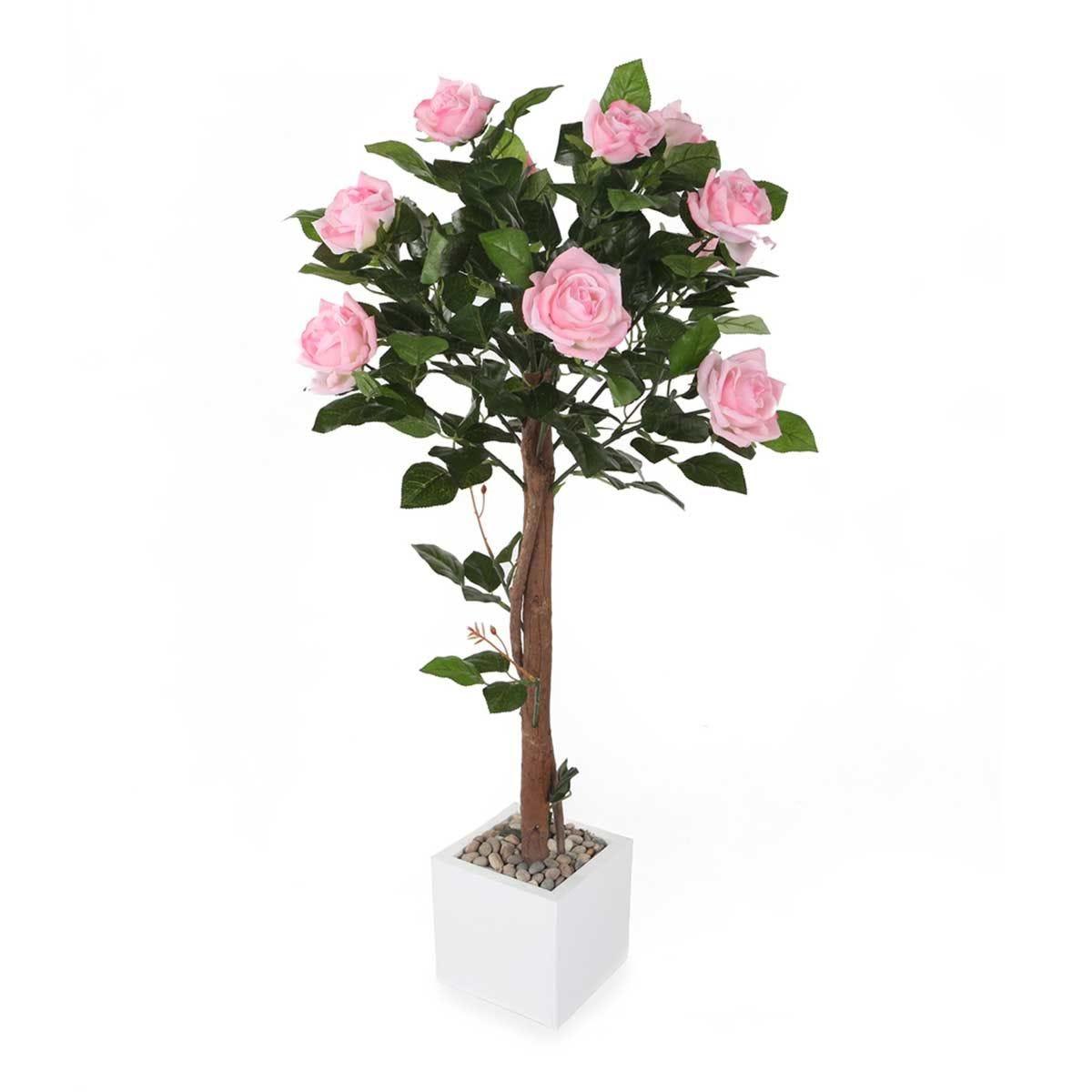 Closer2Nature Artificial 3' 1'' Pink Rose Tree