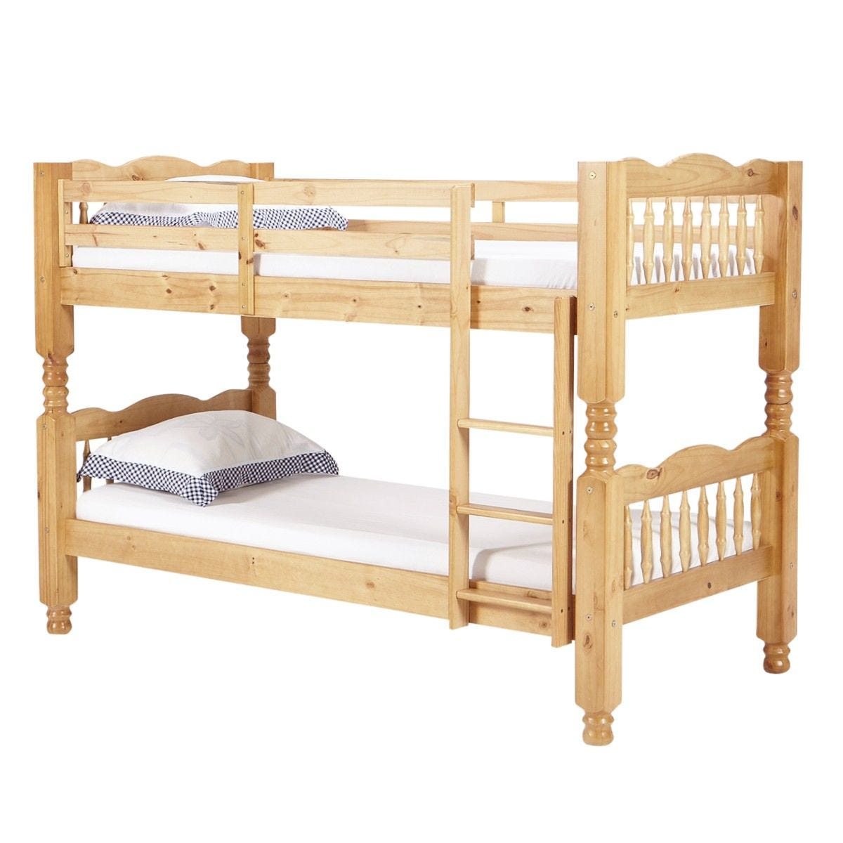 Trieste Chunky Pine Bunk Bed Light Antique