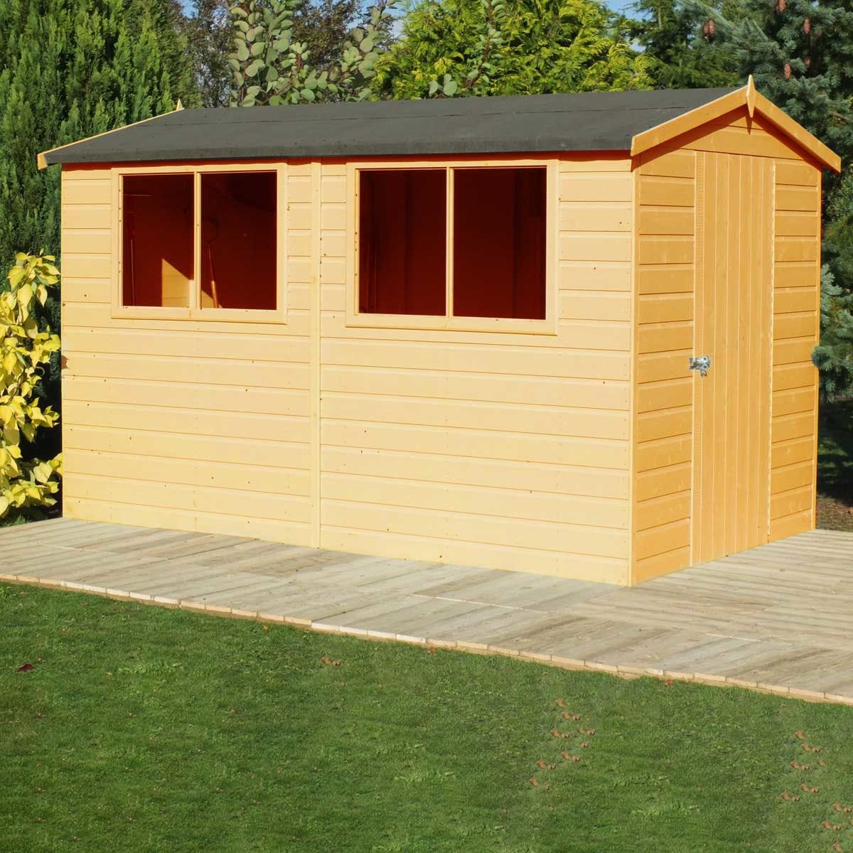 Shire Lewis 12ft x 8 ft Handmade Shed
