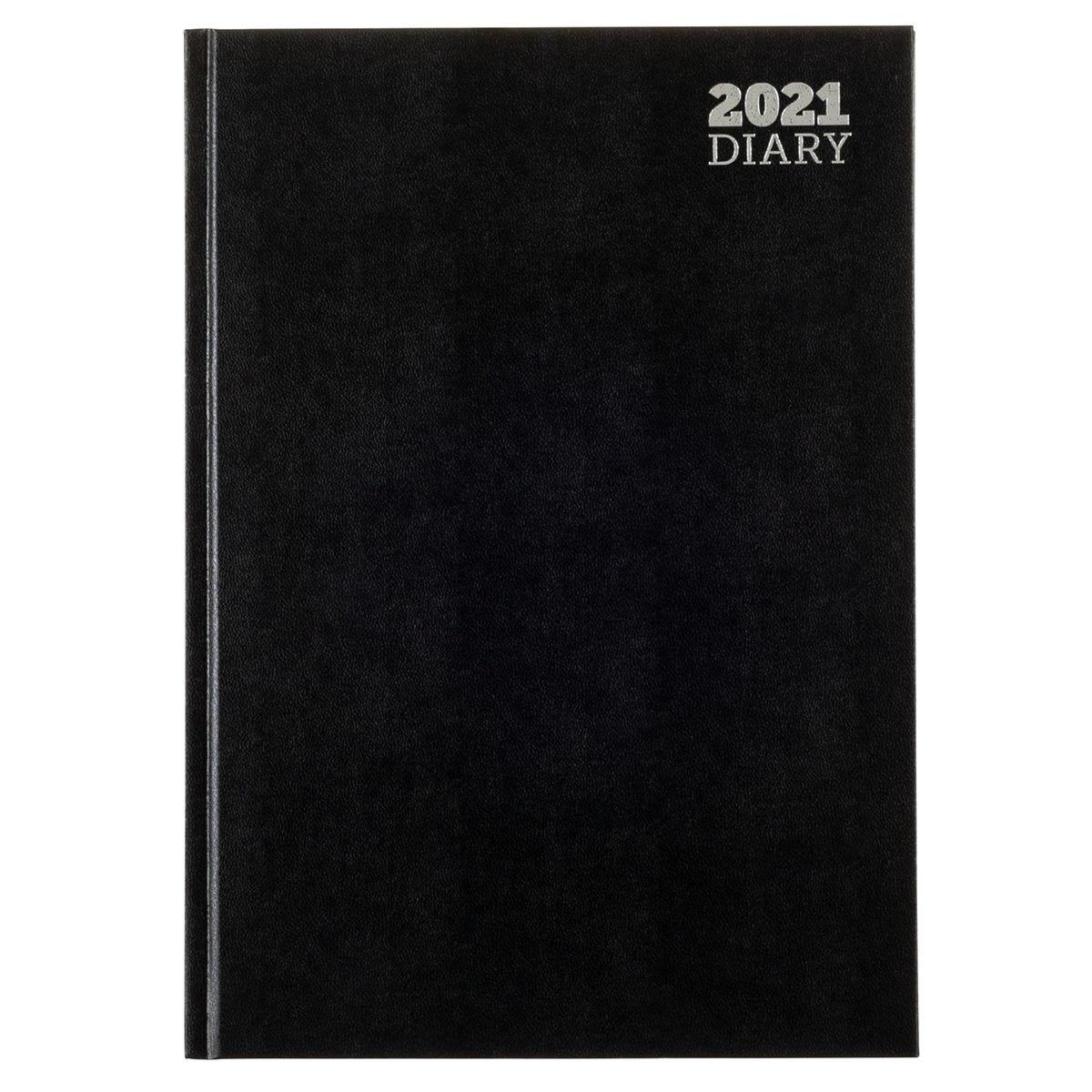 Ryman Diary Week to View A4 2021 - Black