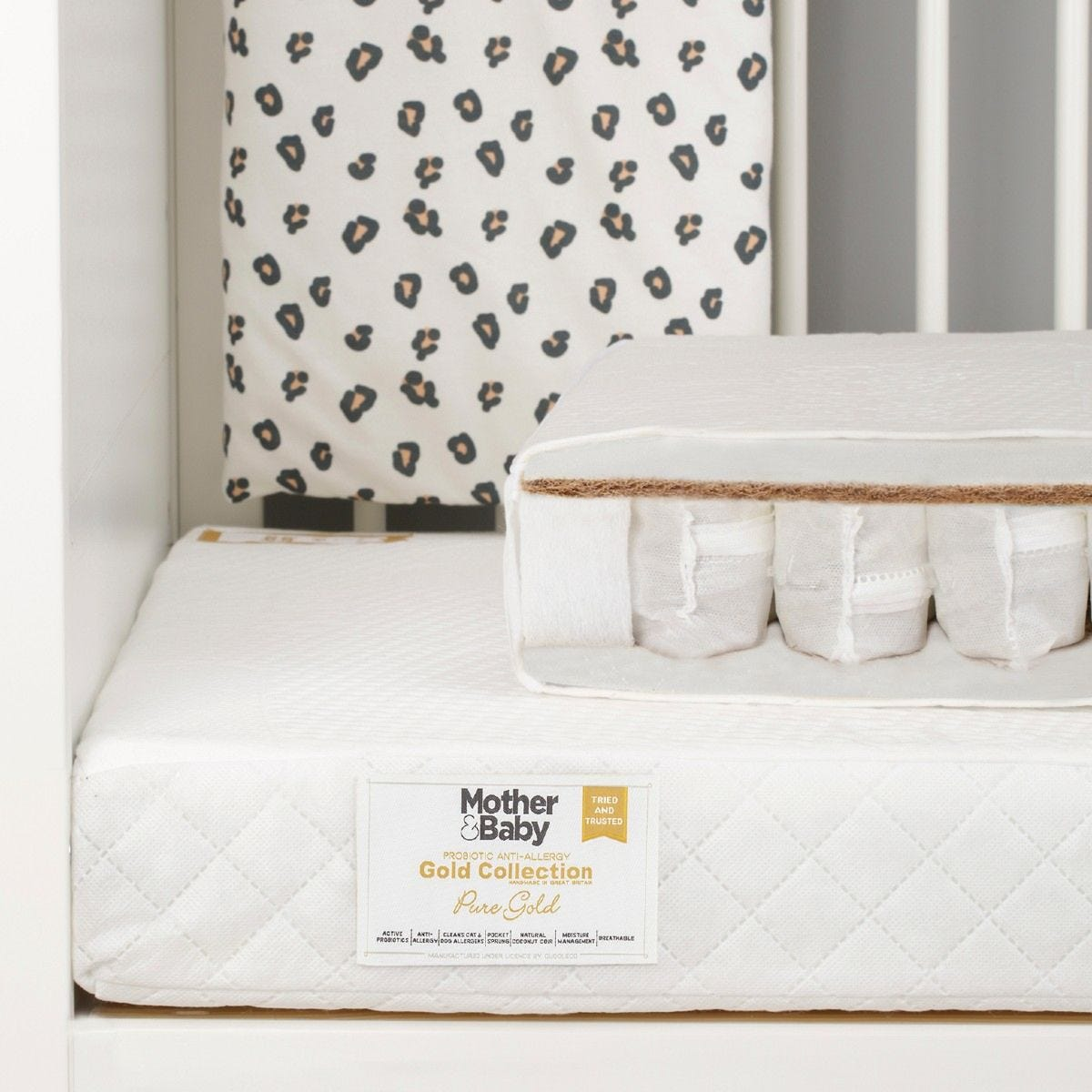 Mother & Baby Pure Gold Anti Allergy Coir Pocket Cot bed Mattress