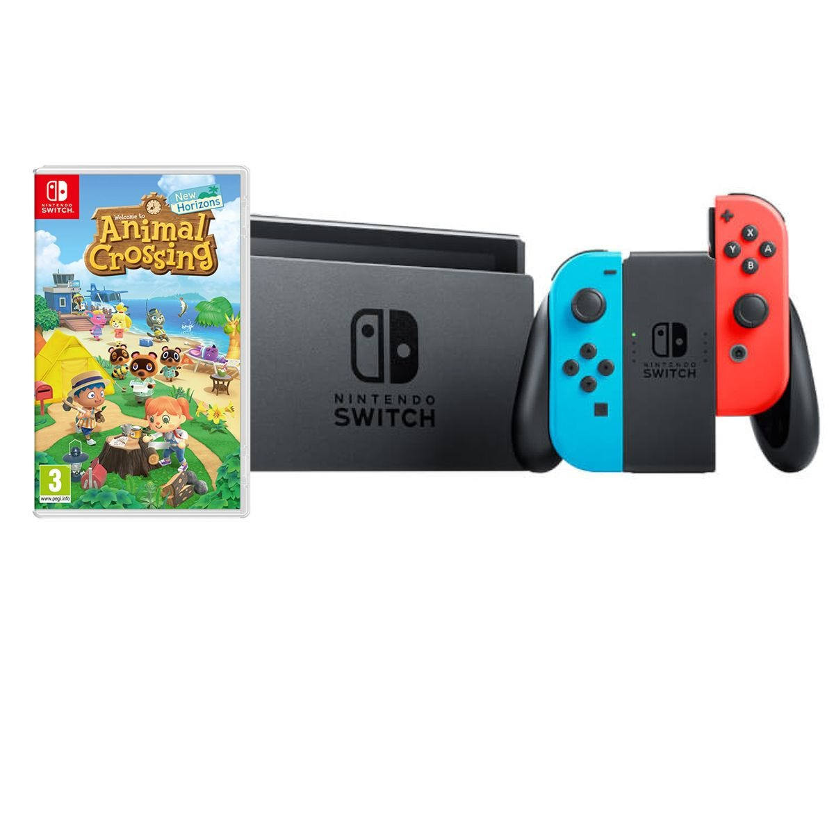 Nintendo Switch HW with Animal Crossing - Neon Red/Neon Blue