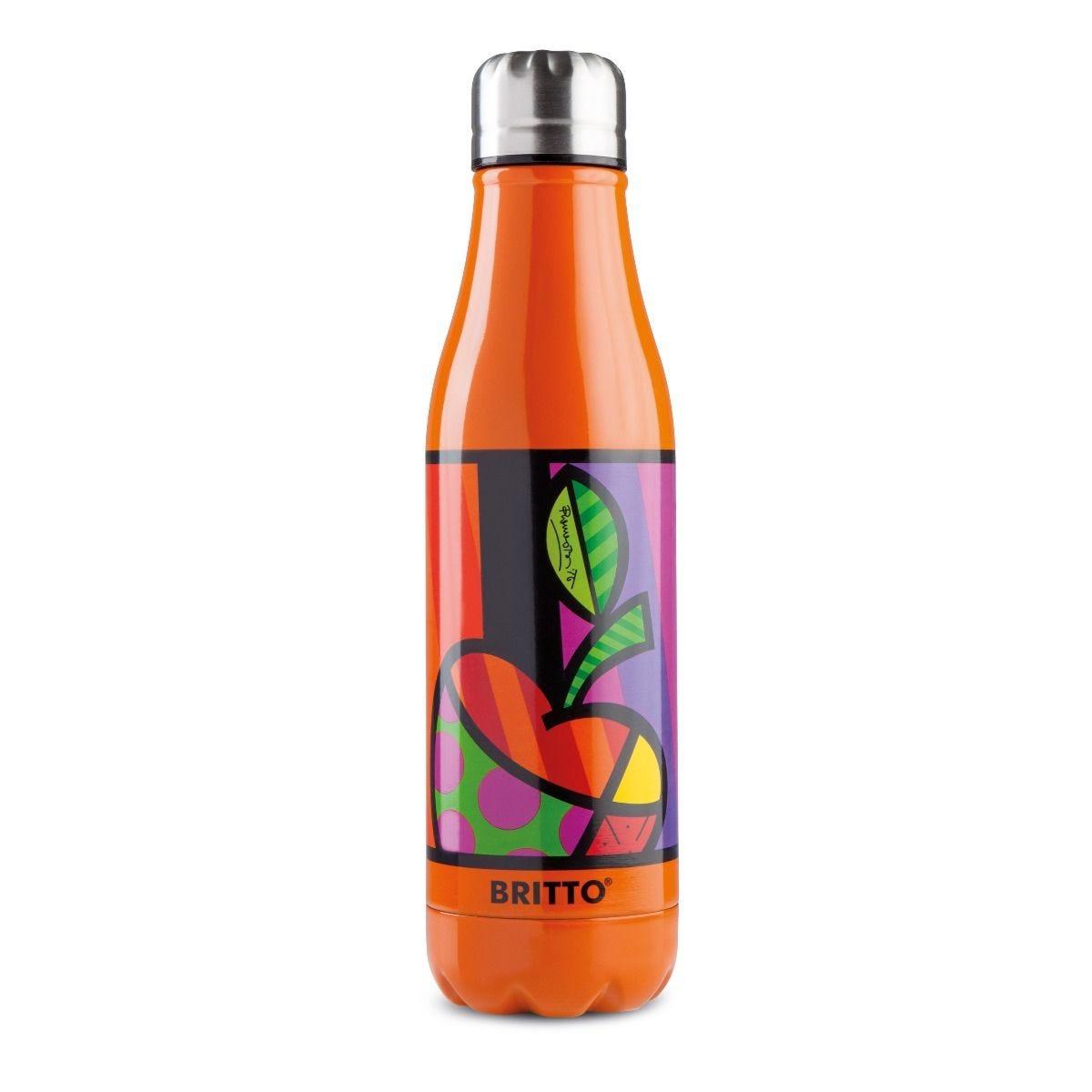 Britto Stainless Steel Orange & Pop Art Apple Insulated Flask Bottle - 500ml