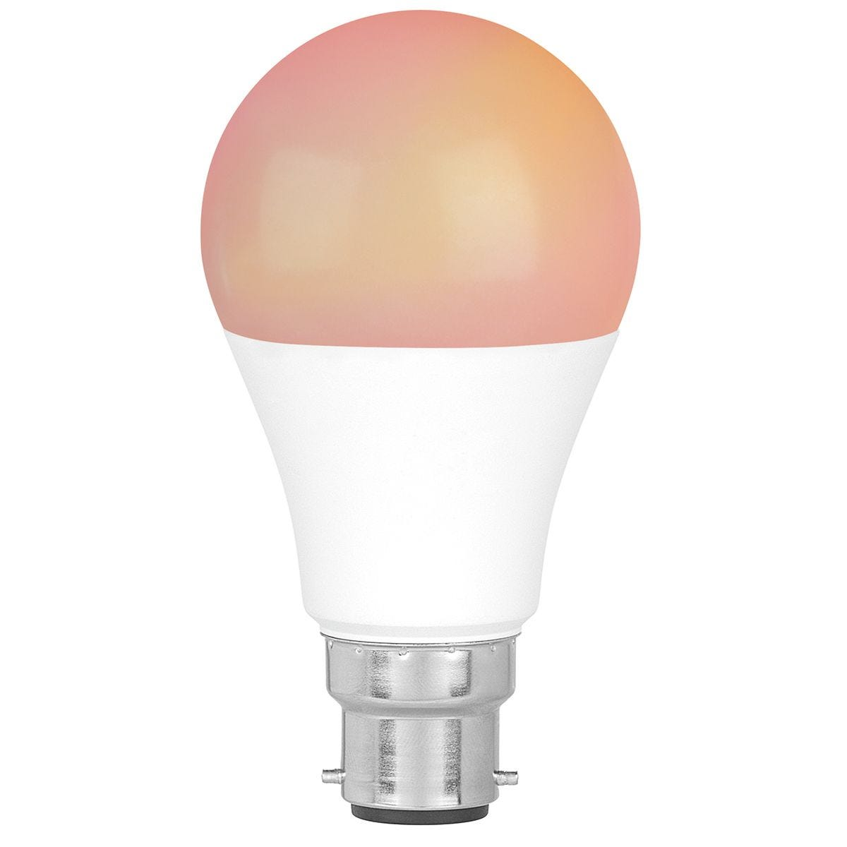 Intempo EE5013BWHTSTKEU7 Smart Light Bulb with Bayonet Fitting 8.5 W - White and RGB Light Modes