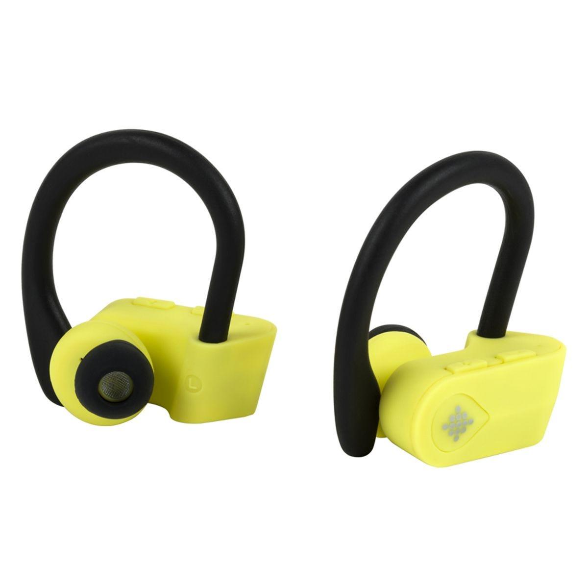 Intempo EE3888YELBLKSTKEUAIR Active TWS 10 Wireless Bluetooth Earphones - Yellow/Black