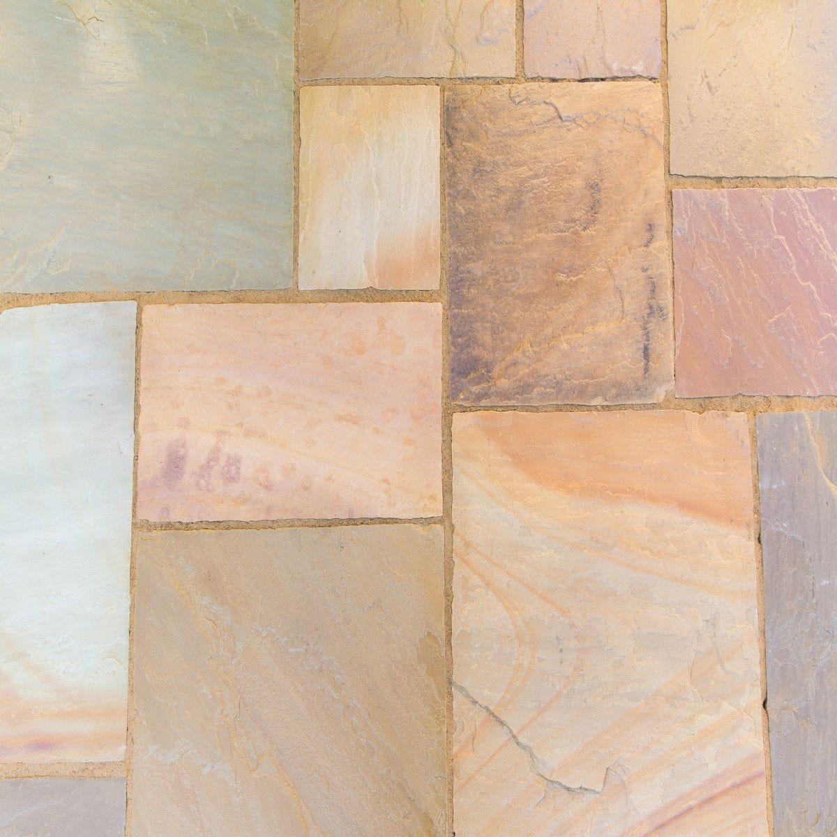 Kelkay Natural Sandstone Patio Kit 15.3m - Scottish Glen Grey