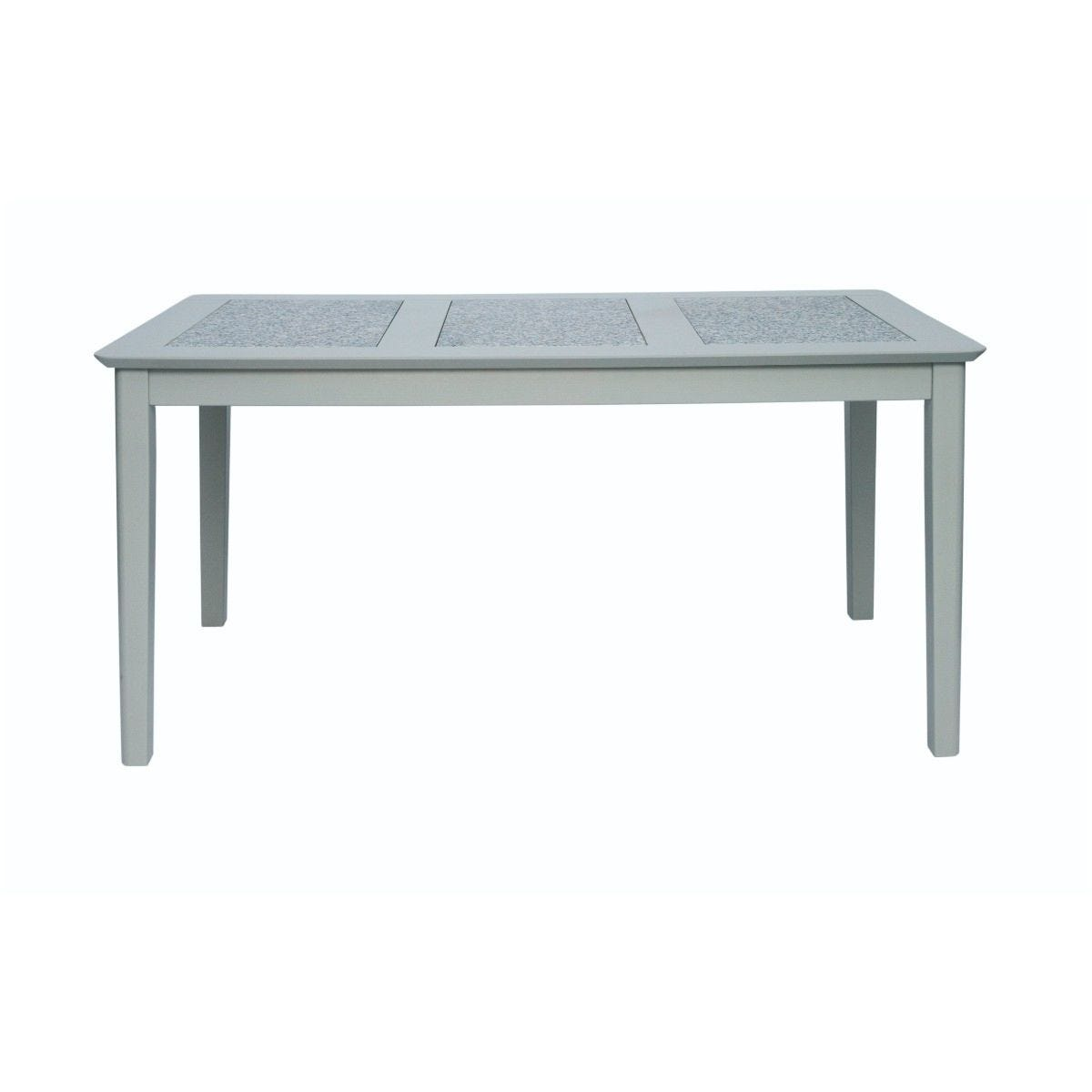 Perth 150cm Rectangular Dining Table Stone Inset Grey
