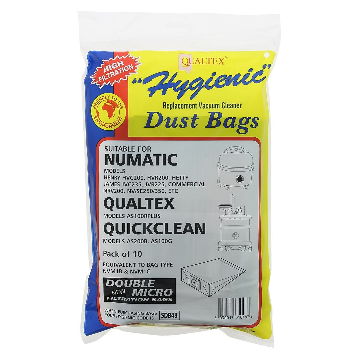 Qualtex Paper Bags Numatic Henry - Pack of 10