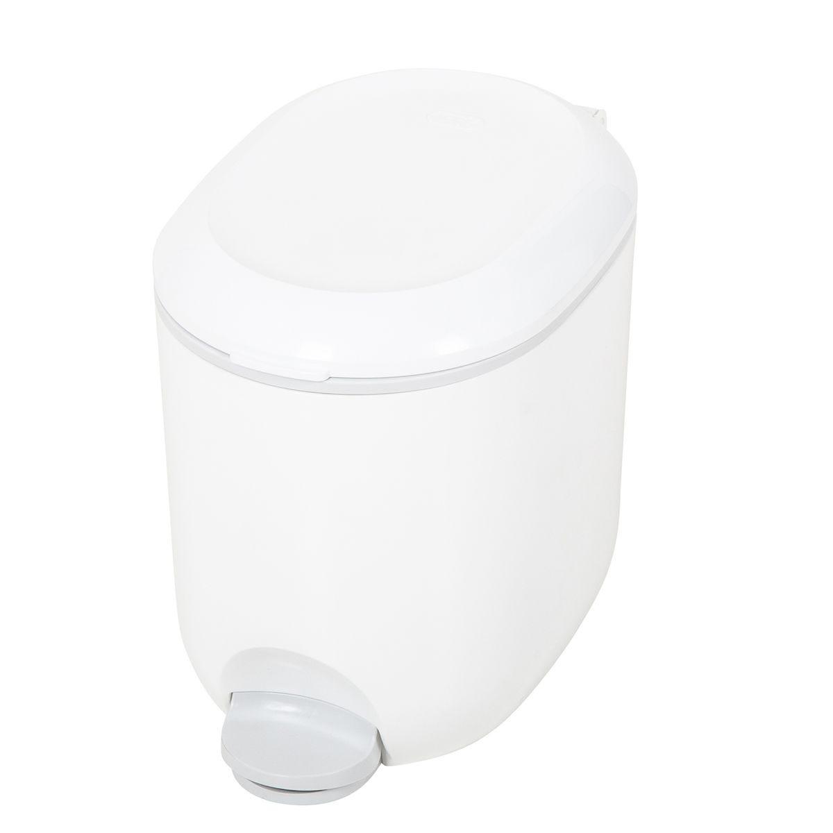 Addis Bathroom Pedal Bin - White/Grey