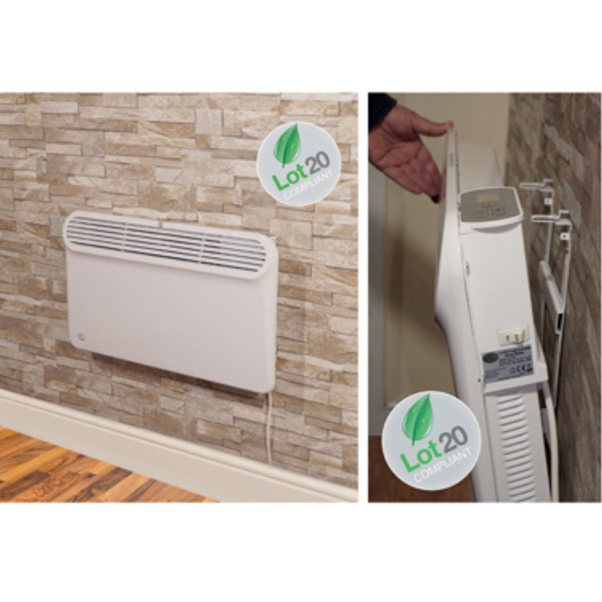 Prem-I-air Slimline Wall and Floor Mounting Programmable Panel Heater With Silent Operation 0.5Kw