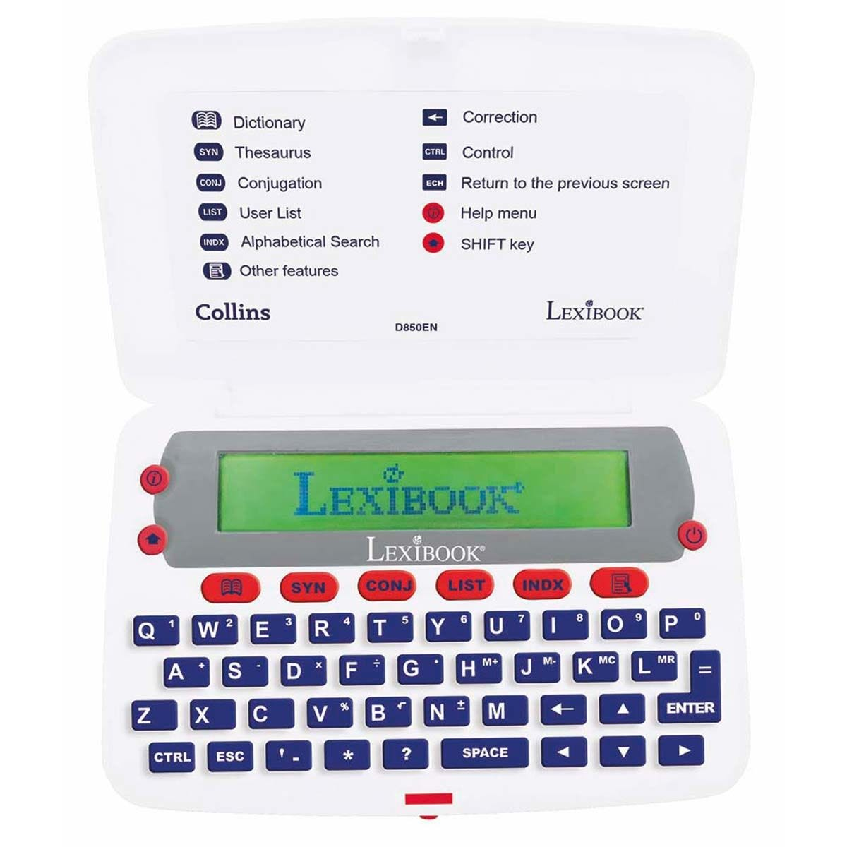 Lexibook Collins English Electronic Dictionary with Thesaurus - White