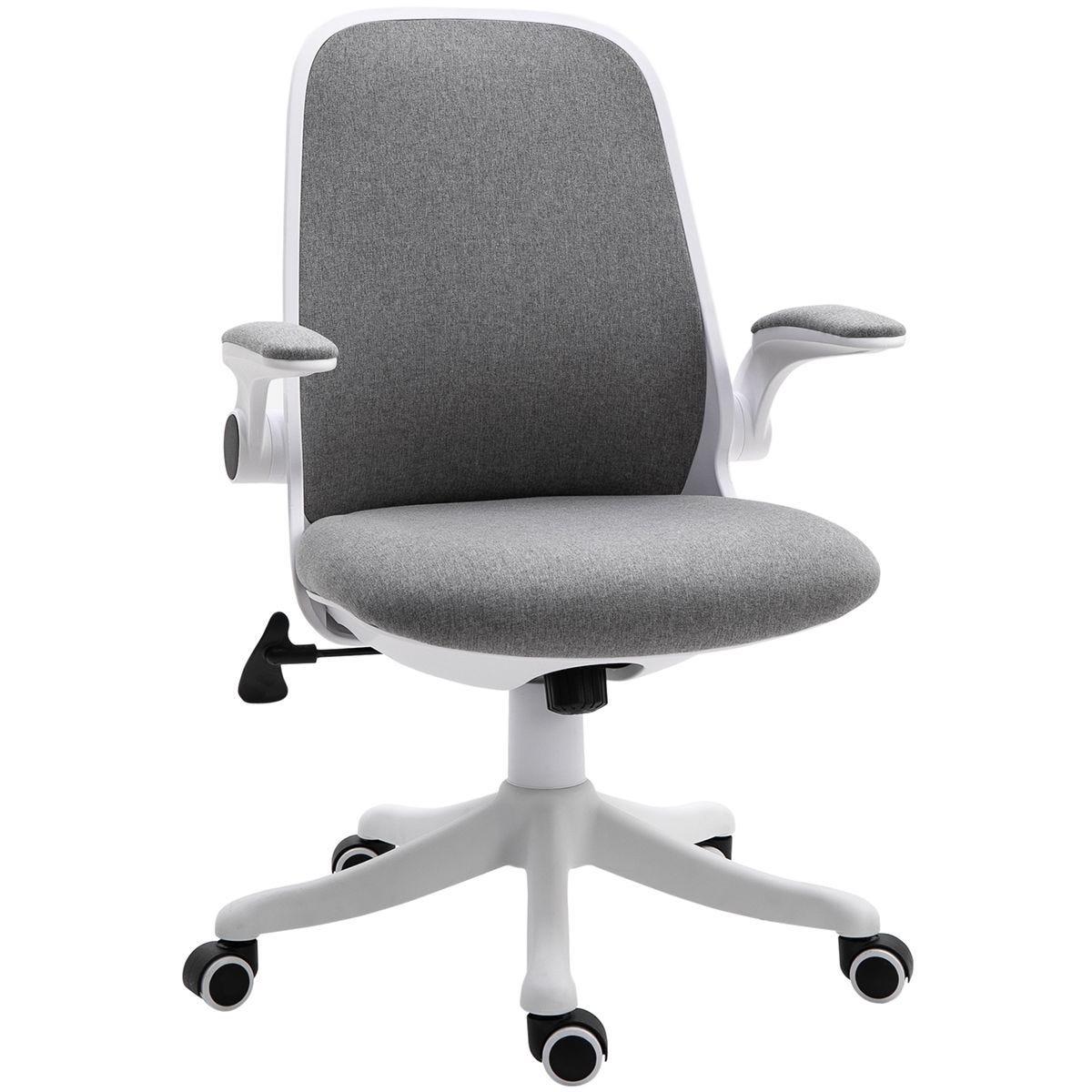Zennor Hinoki Meshback Cushioned Office Chair - Grey/White