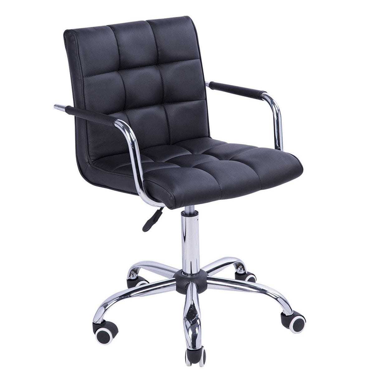 Zennor Perch PU Leather Chair - Black