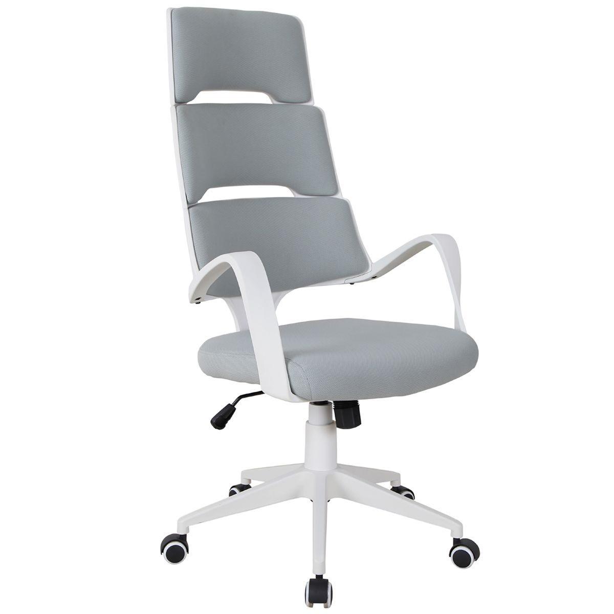 Solstice Hosta Linen Office Chair - White/Grey