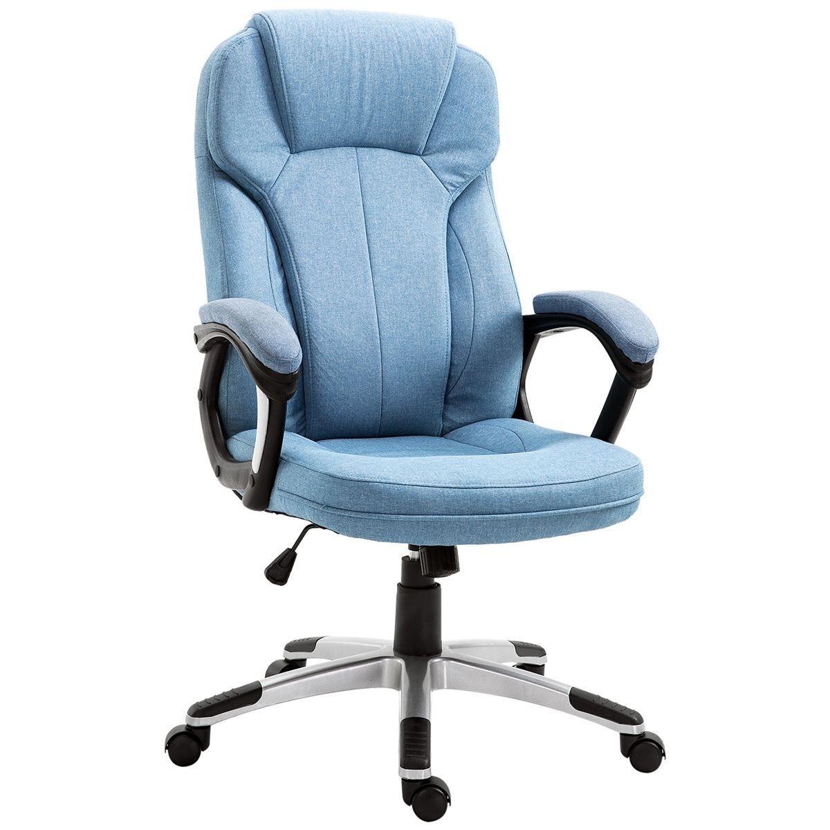 Solstice Spruce Linen Ergonomic Office Chair - Light Blue
