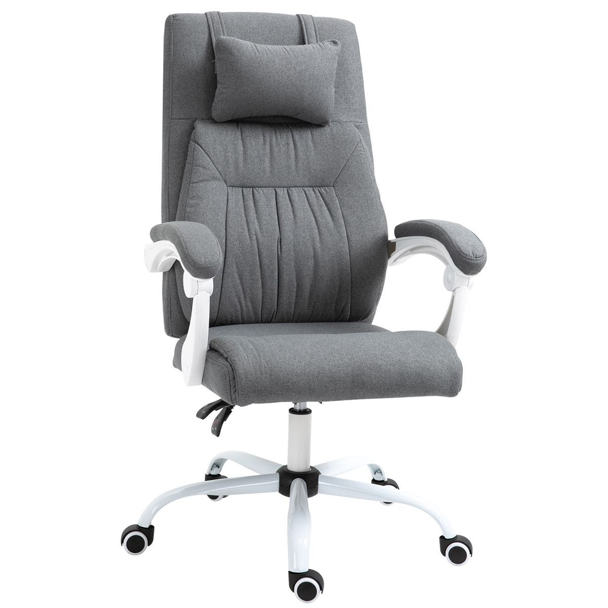 Solstice Feebee Linen Office Chair with Vibrating Pillow - Grey