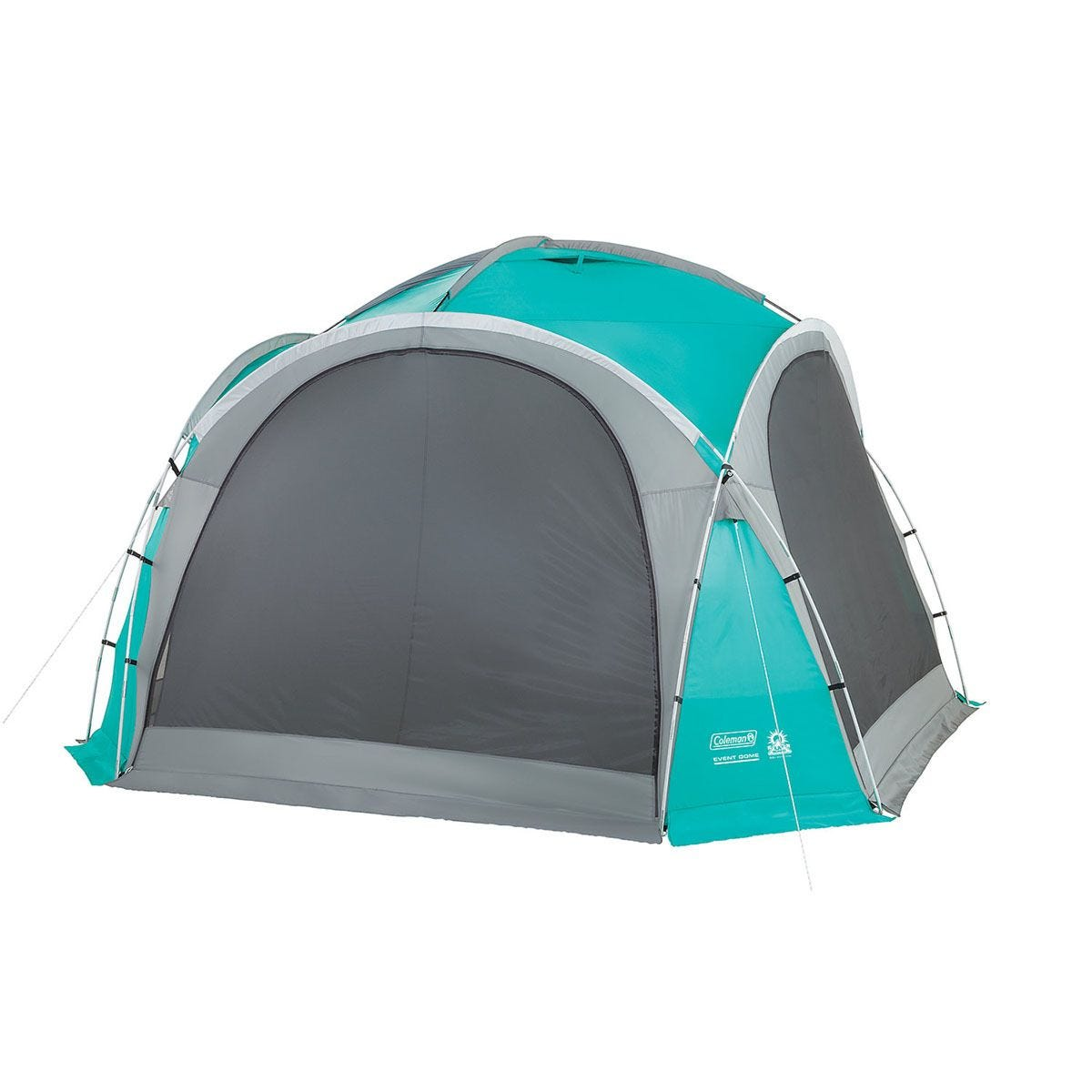 Coleman Gazebo Event Dome Shelter 4.5m with 4 Screen Walls - Teal & Grey