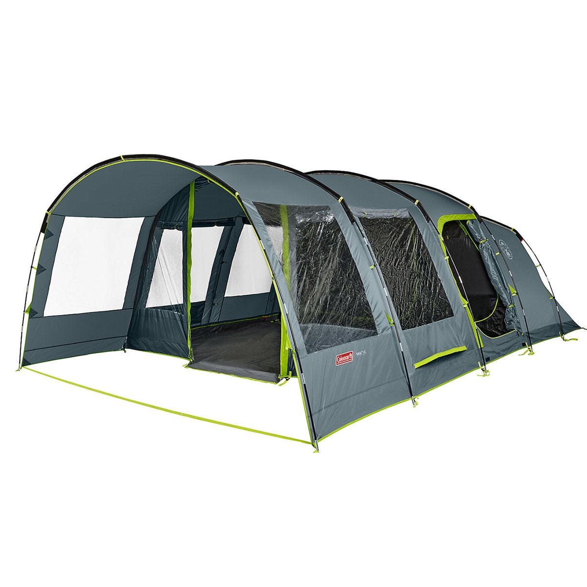 Coleman Vail L 6 Person Family Tent with Open Porch - Grey