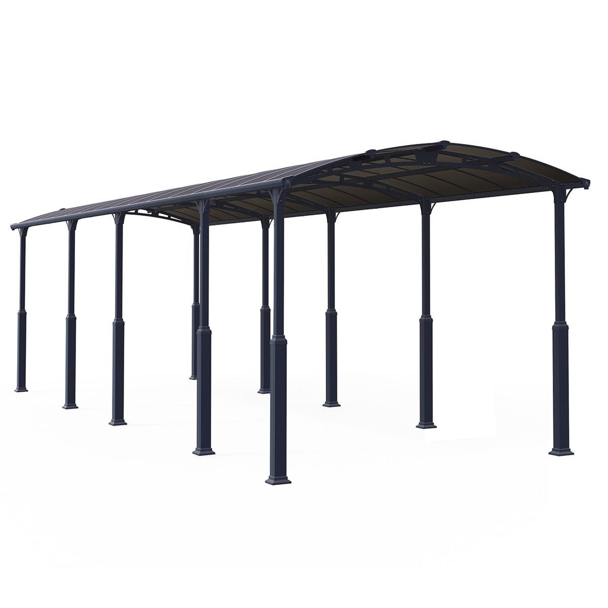 Palram Alpine 12' x 35' RV Carport - Grey