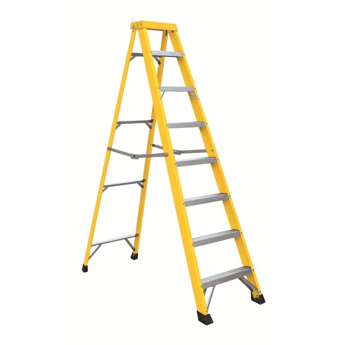 Draper Fibreglass 7 Step Ladder - Yellow