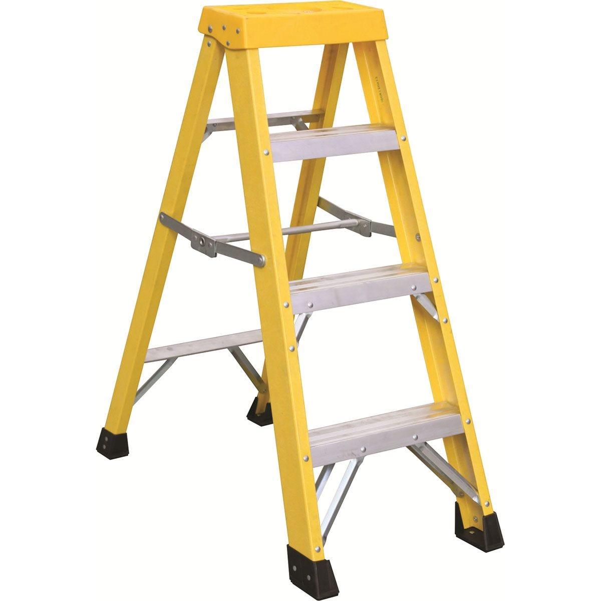 Draper Fibreglass 3 Step Ladder - Yellow