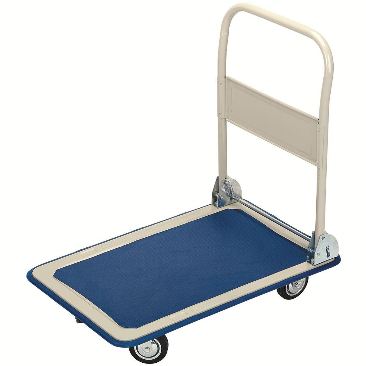 Draper 150kg Platform Trolley with Folding Handle (630mm x 480mm x 850mm)