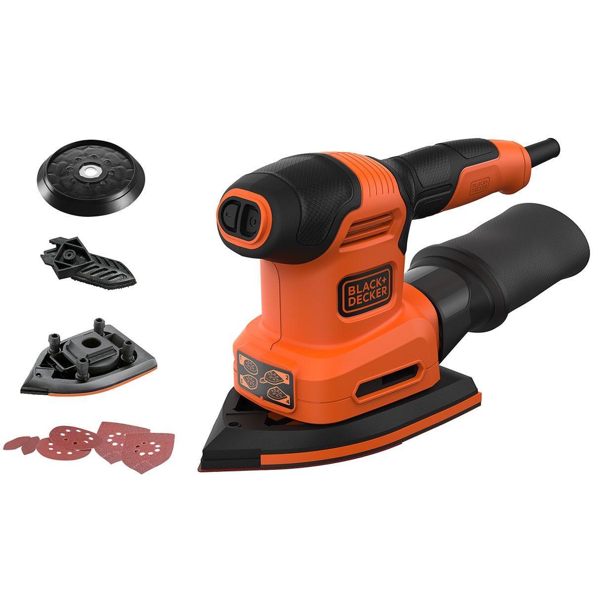 Black & Decker 200W 4-in-1 Multi-Sander - Orange
