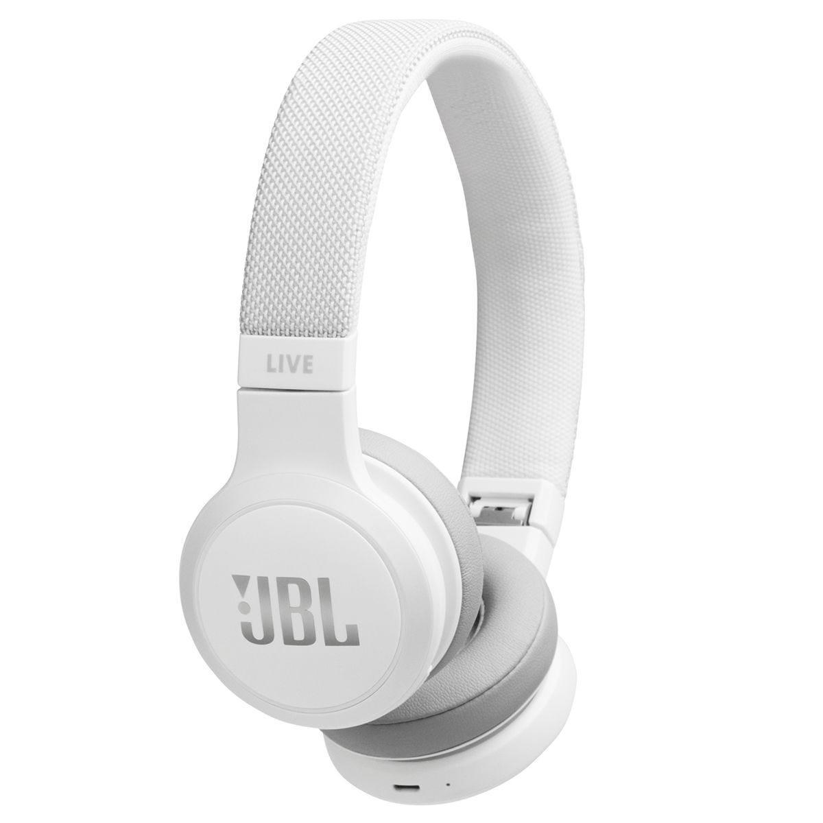 JBL Live 400 Bluetooth Wireless On-Ear Headphones - White