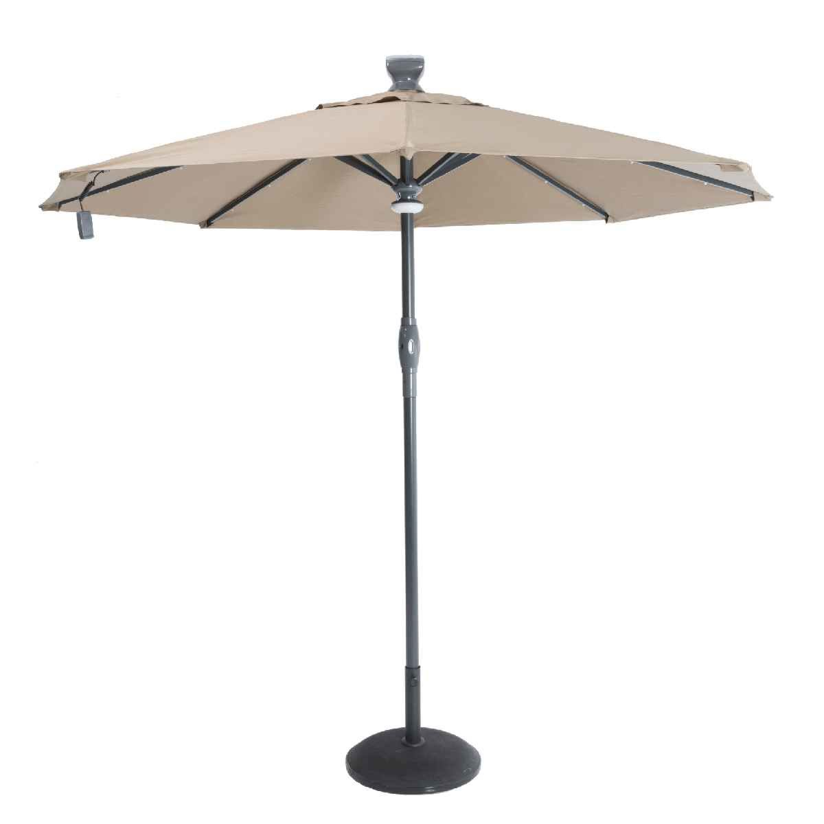 Garden Must Haves 3m Solar Automatic Opening & Closing Umbrella - Taupe