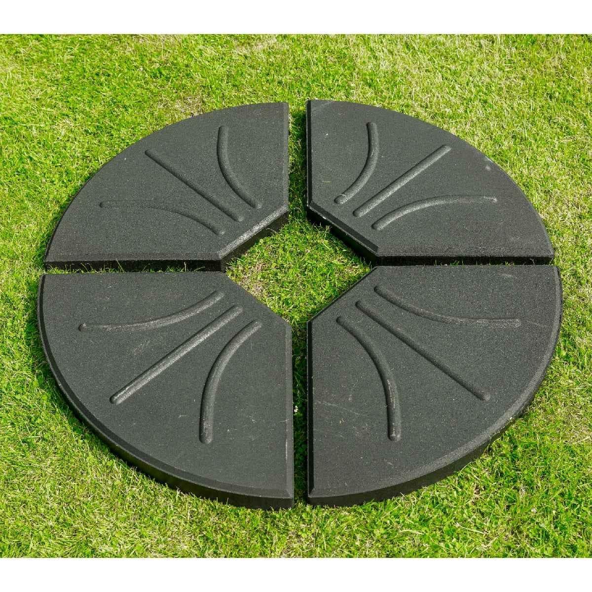 Garden Must Haves 80kg Four Part Parasol Base - Black