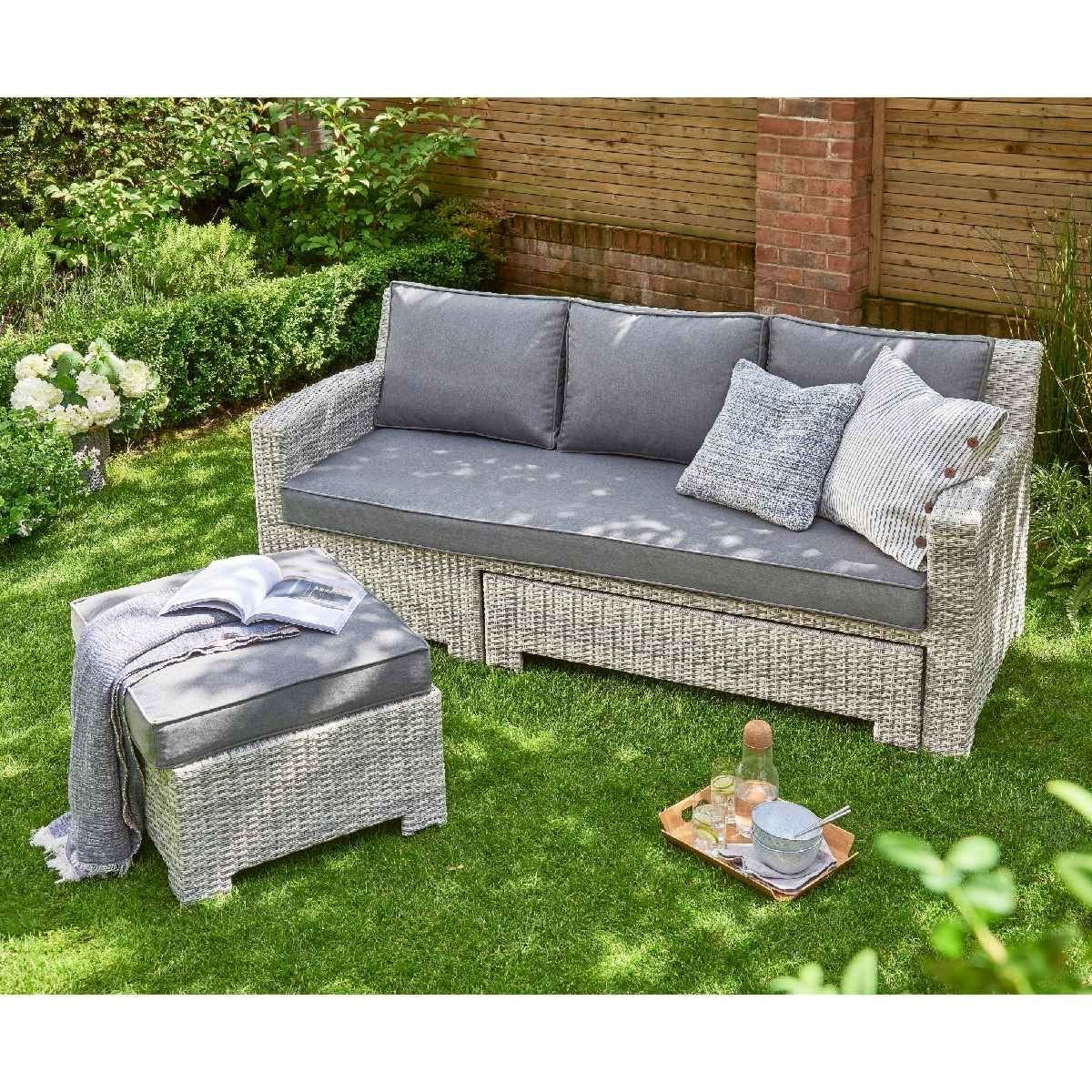 Norfolk Leisure Oxborough Outdoor Pull Out Lounge Sofa - Grey