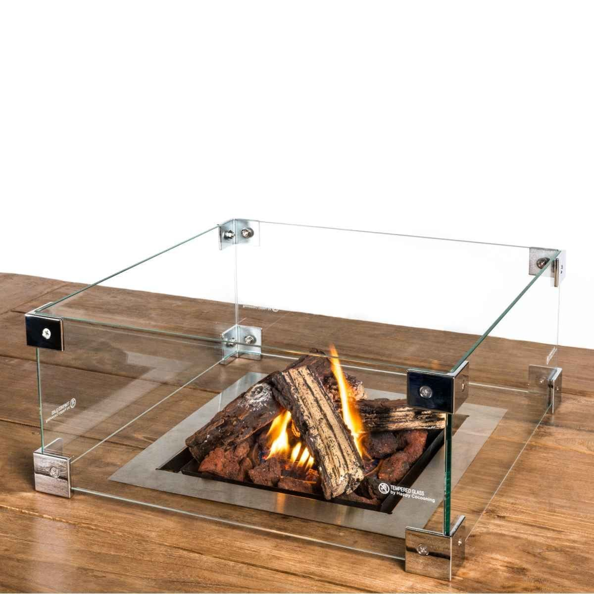 Happy Cocooning Glass Screen Kit for Rectangular and Square Cocoon Fire Pits