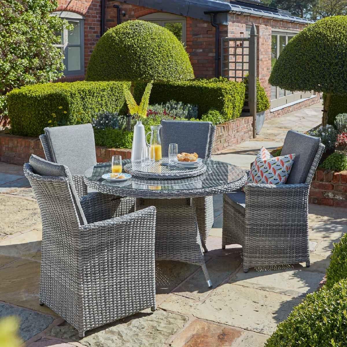 Handpicked Burnham XL 4 Seat Dining Set - Grey