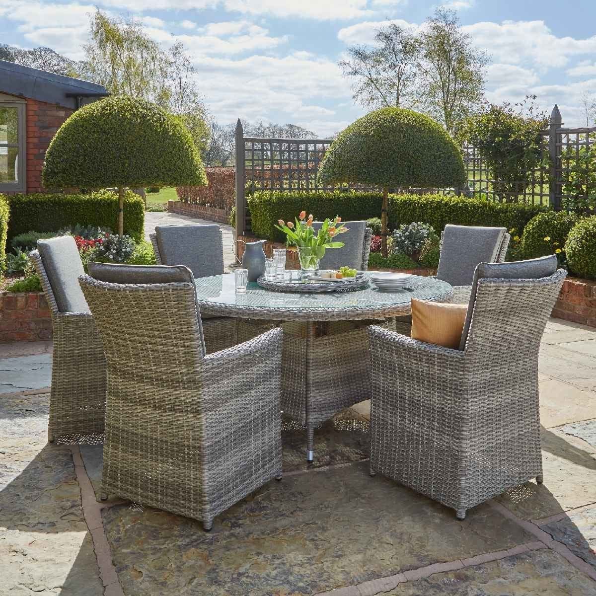 Handpicked Burnham XL 6 Seat Dining Set - Grey