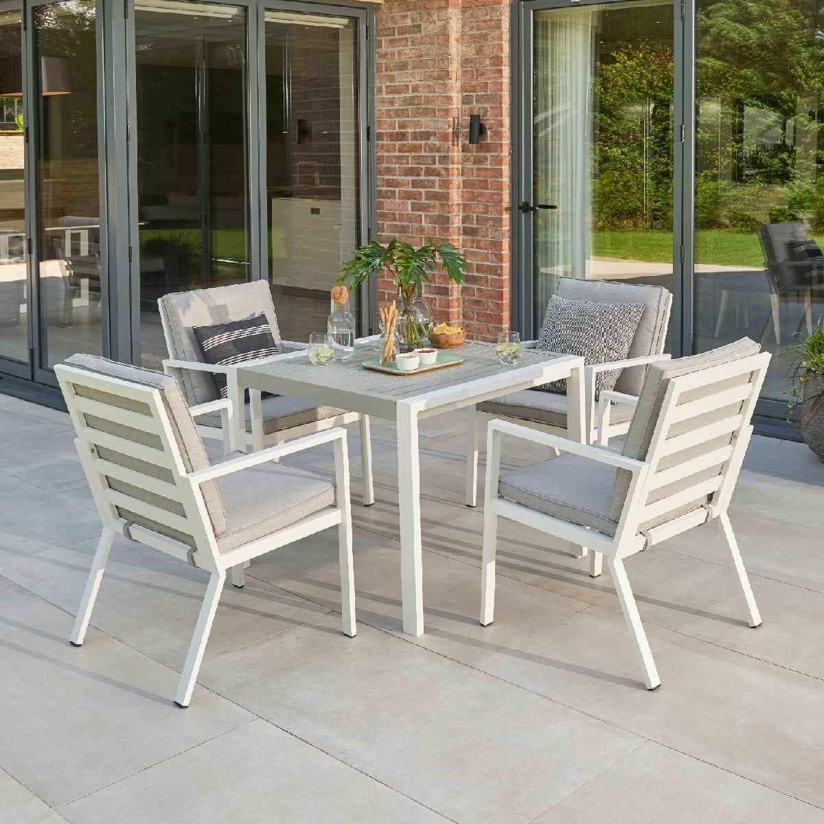 Handpicked Titchwell 4 Seat Dining Set - White