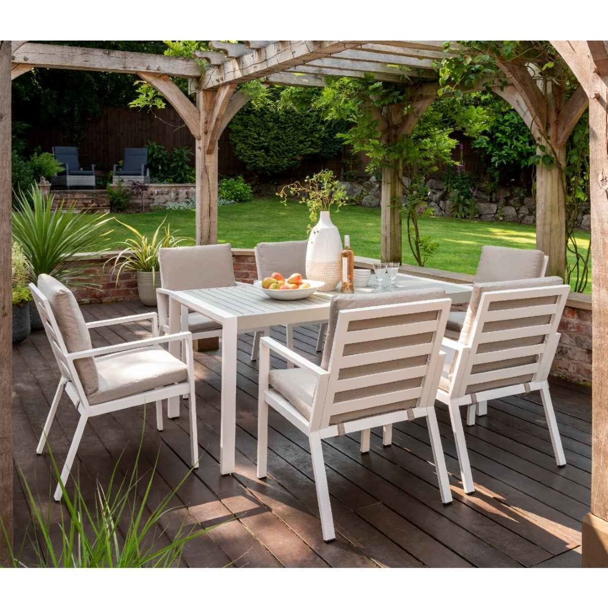 Handpicked Titchwell 6 Seat Dining Set - White
