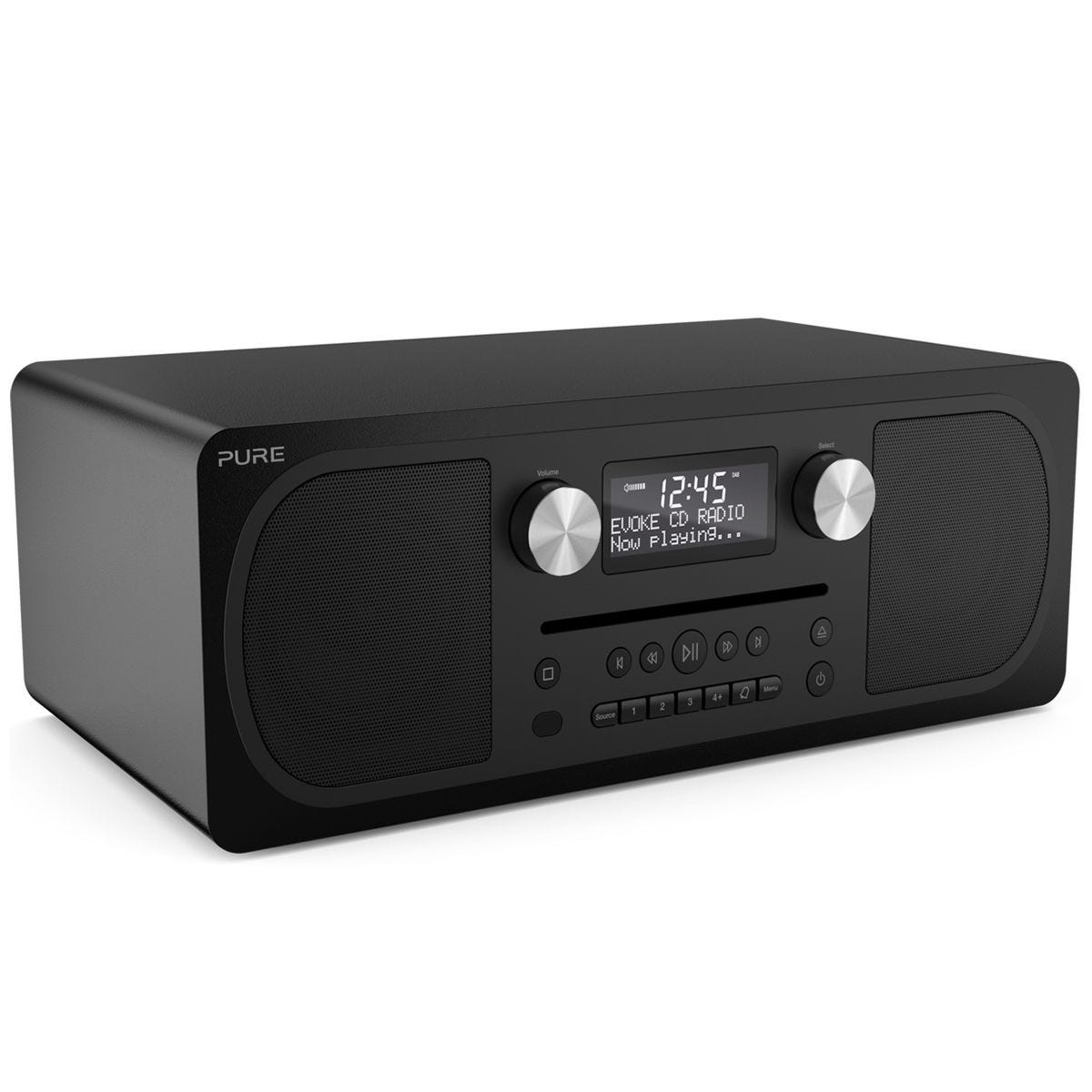 Pure Evoke C-D6 Stereo All-in-one Music System with CD, DAB/DAB+, FM, Bluetooth - Black