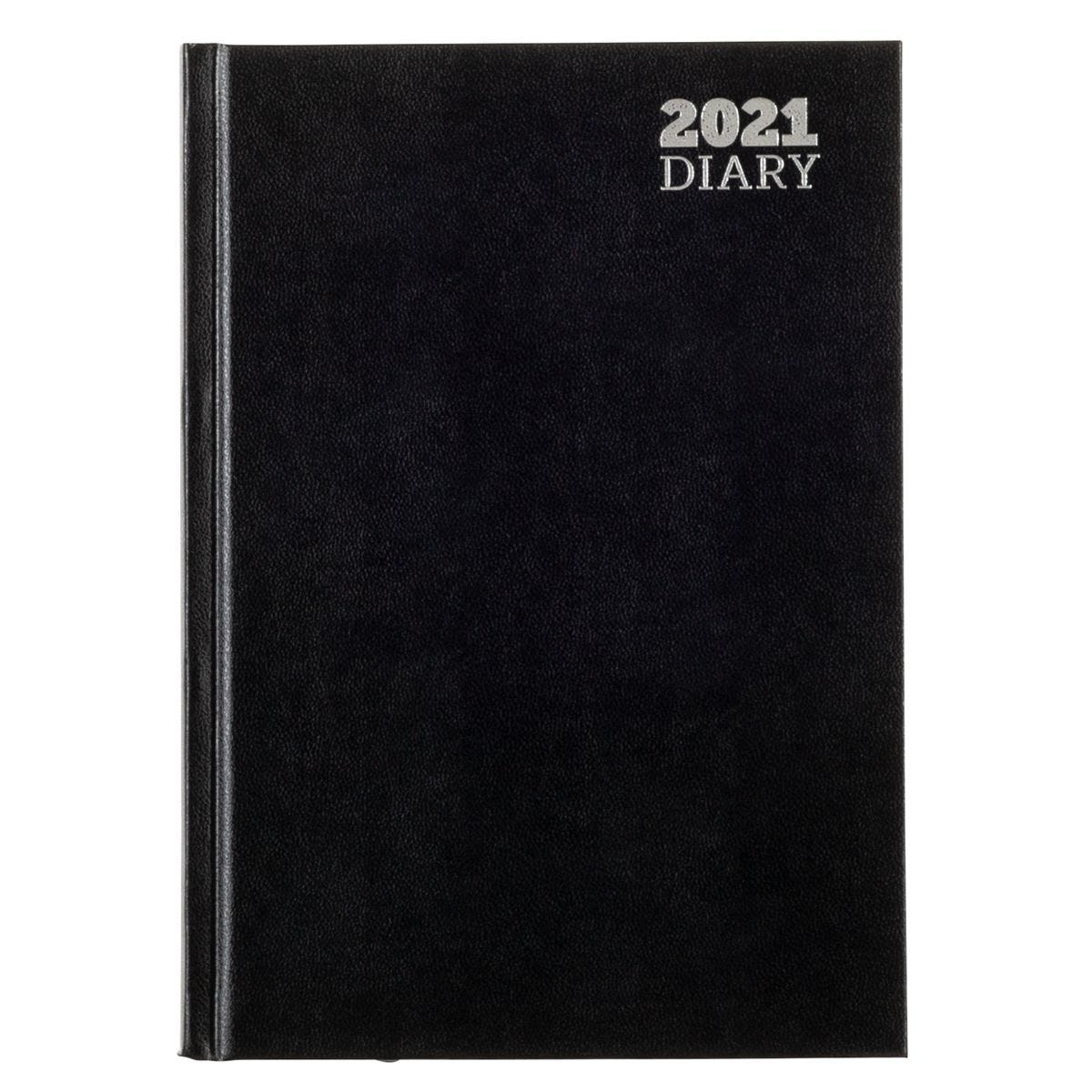 Ryman Diary Day to View A5 2021 - Black