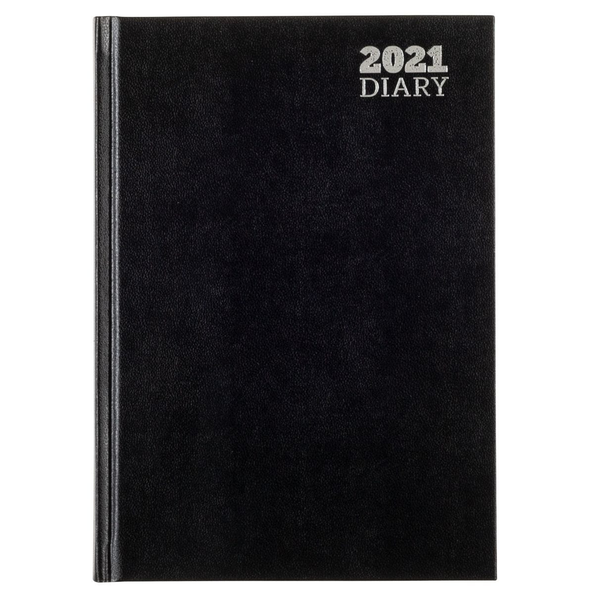 Ryman Appointments Diary Day to View A5 2021 - Black
