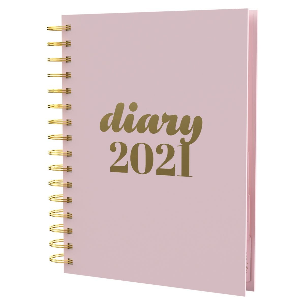 Collins Scandi Diary Day to View A5 2021 - Pink
