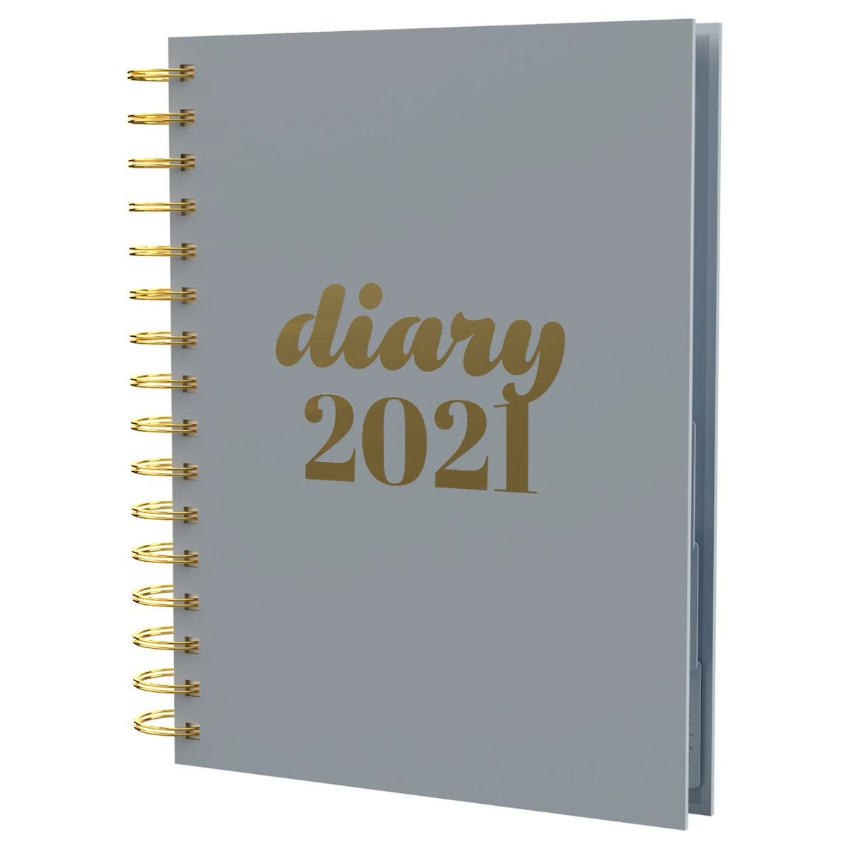 Collins Scandi Diary Day to View A5 2021 - Grey