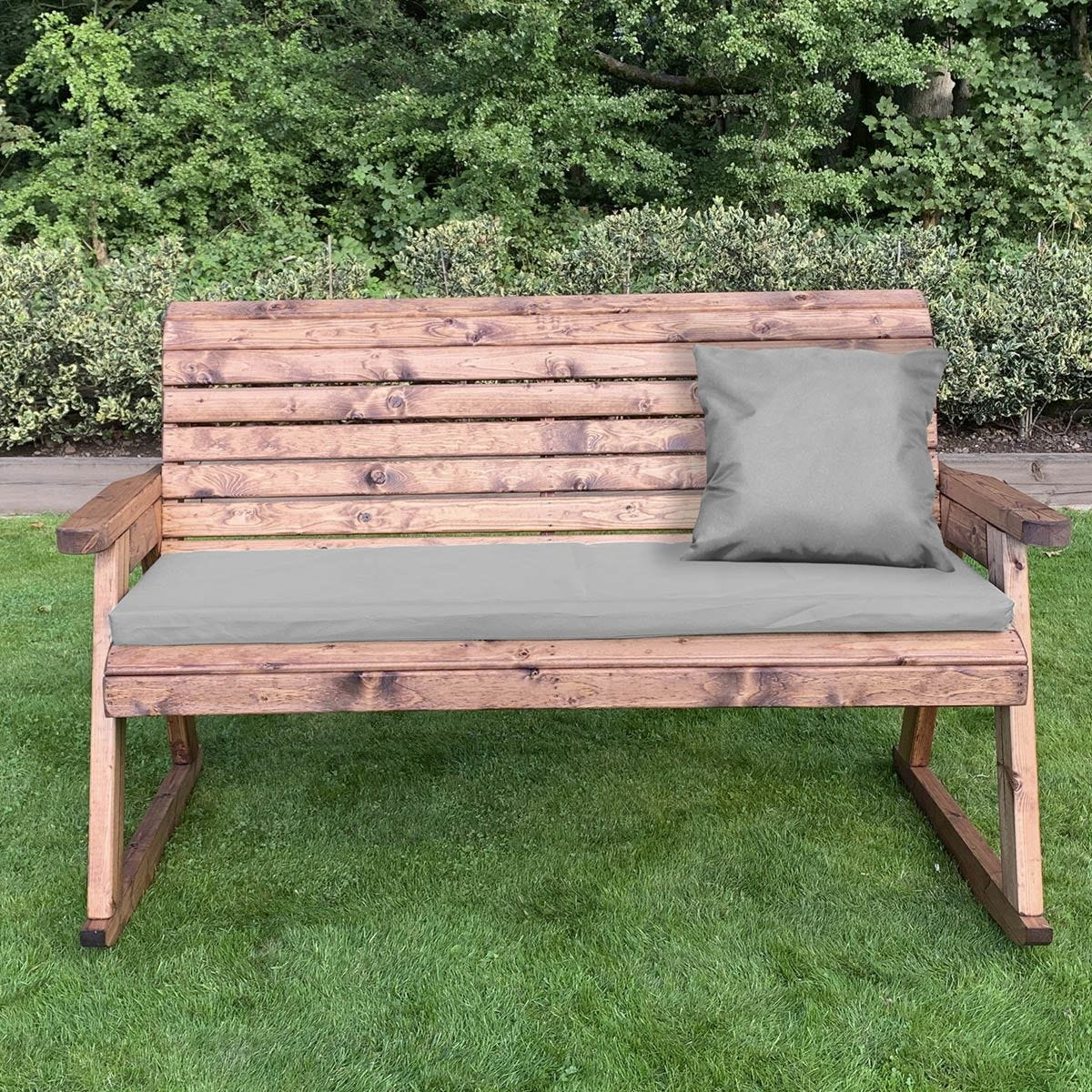 Charles Taylor Three Seater Rocker Bench with Grey Cushions