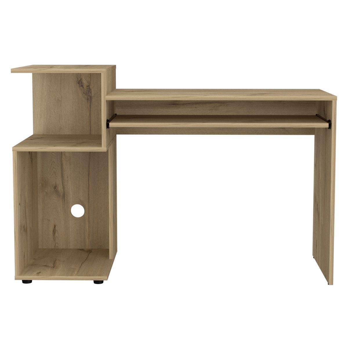 Brooklyn Home Office Desk with Low Shelving Unit (Left Side)