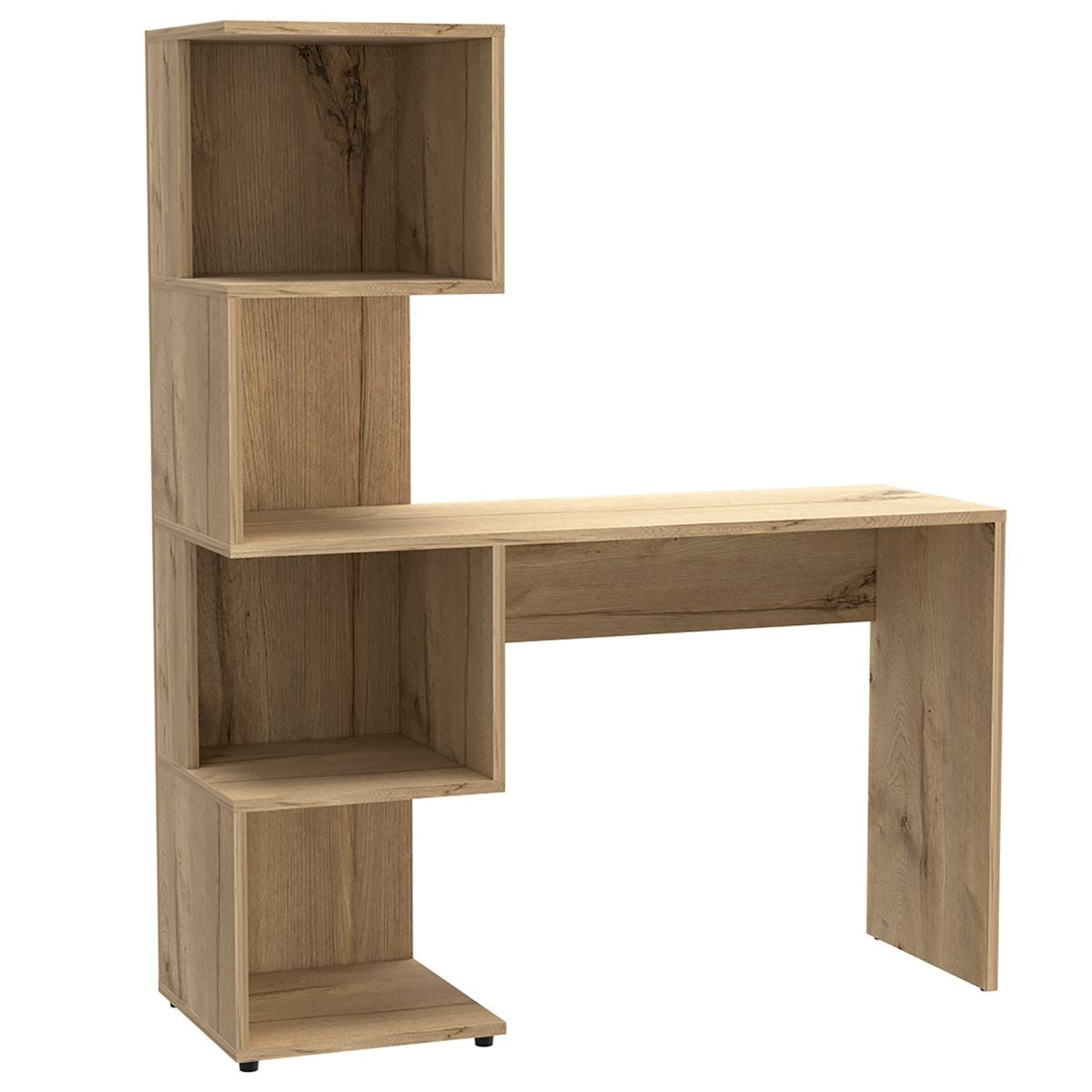 Brooklyn Home Office Desk with Tall Shelving Unit (Left Side)