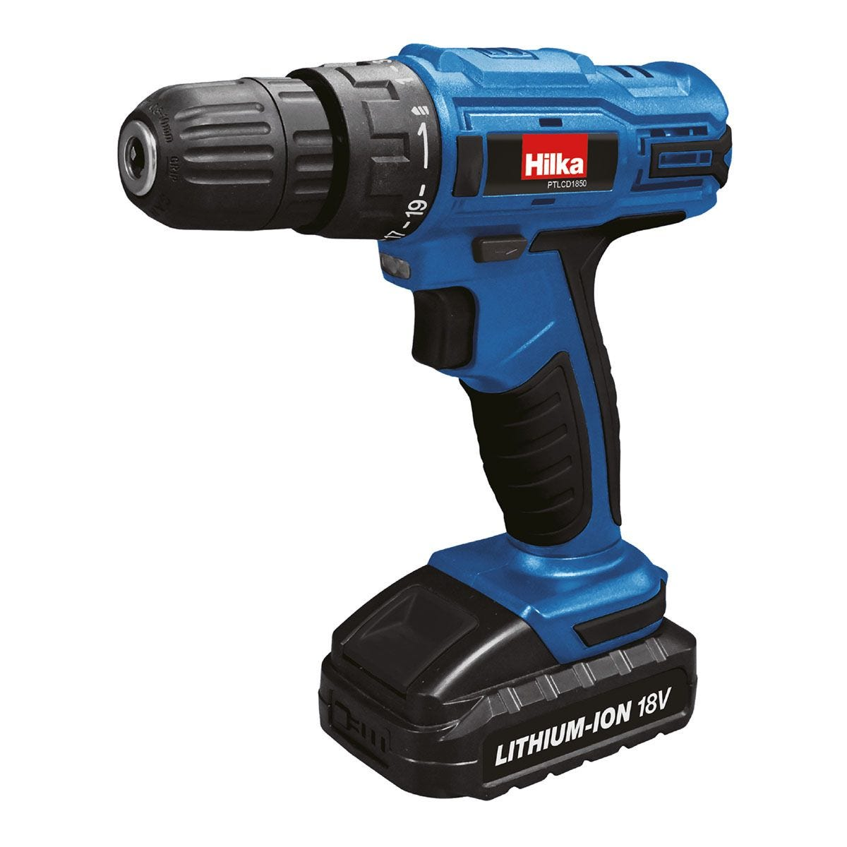Hilka 18V Li-ion Cordless Drill/Driver with Two Batteries