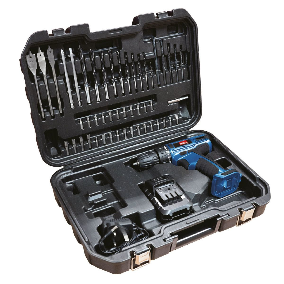 Hilka 18V Li-ion Cordless Drill/Driver with 50 Accessories