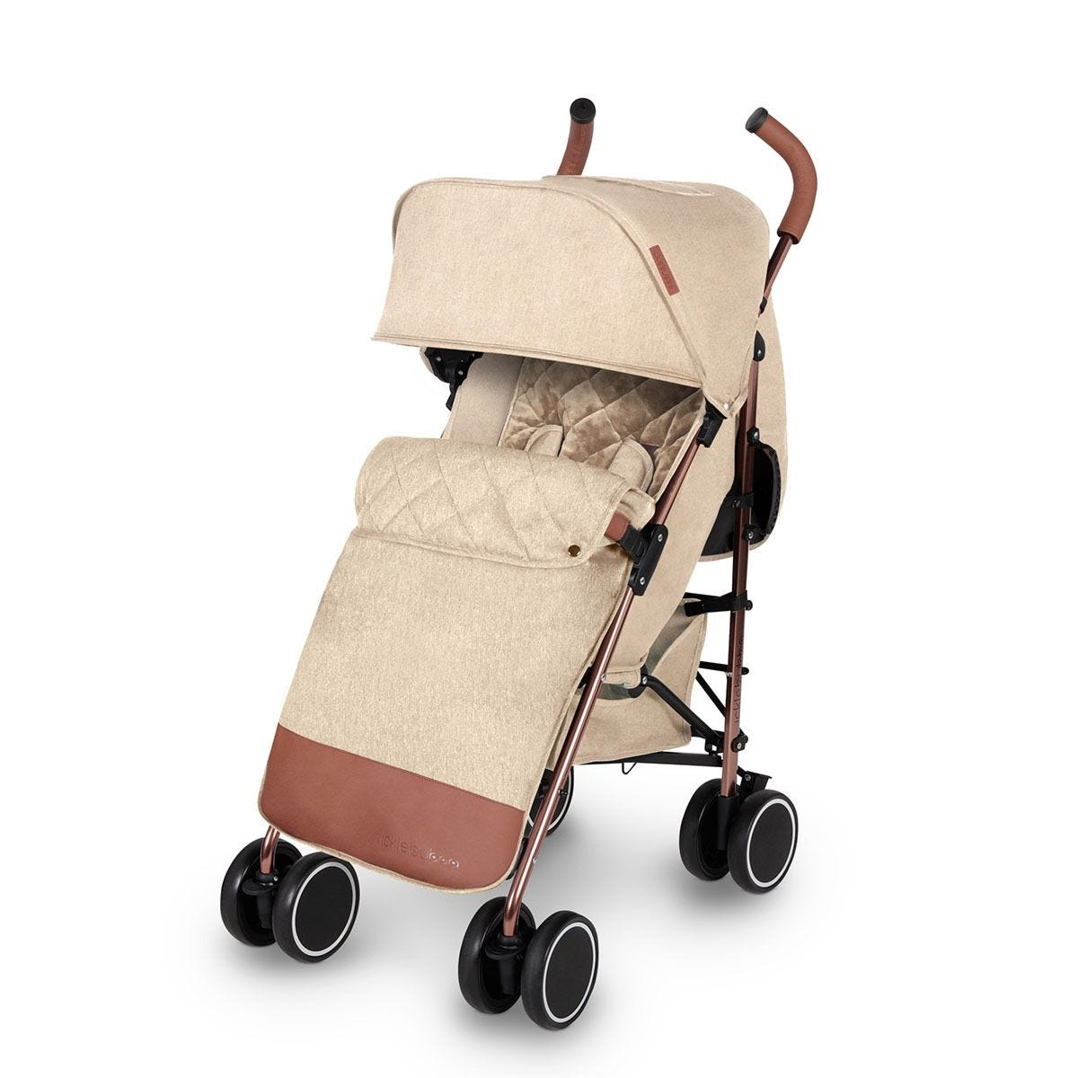 Ickle Bubba Discovery Max Stroller - Cream on Rose Gold